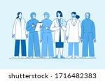 vector illustration in flat... | Shutterstock .eps vector #1716482383