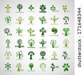 eco tree icons   isolated on... | Shutterstock .eps vector #171648344