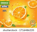 orange juice advertising... | Shutterstock . vector #1716486220