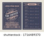 coffee shop menu template.... | Shutterstock .eps vector #1716489370