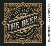 vintage beer label for packing | Shutterstock .eps vector #1716489379
