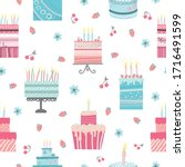 Seamless Pattern With Birthday...