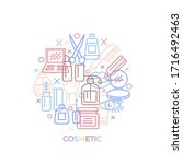 cosmetic. concept with icons... | Shutterstock .eps vector #1716492463