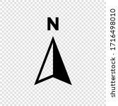 north arrow icon n direction...