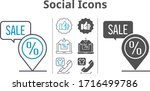 social icons icon set included...