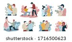 collection of people proposing...   Shutterstock .eps vector #1716500623