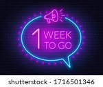 one week to go neon sign on...   Shutterstock .eps vector #1716501346