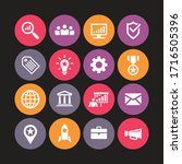 business icons vector... | Shutterstock .eps vector #1716505396