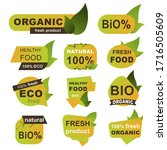 organic fresh products badges... | Shutterstock .eps vector #1716505609