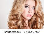portrait of beautiful blonde... | Shutterstock . vector #171650750