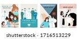 novel coronavirus background... | Shutterstock .eps vector #1716513229