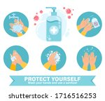 use hand sanitizer infographics....   Shutterstock .eps vector #1716516253