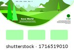 earth day landing page vector ...