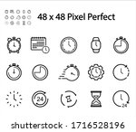 time and clock line icons.  | Shutterstock .eps vector #1716528196