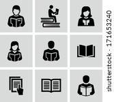 reading book  | Shutterstock .eps vector #171653240