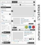 web design elements set. online ...   Shutterstock .eps vector #171654068