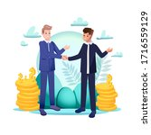 two businessmen have successful ...   Shutterstock .eps vector #1716559129