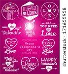 happy valentine's day vector... | Shutterstock .eps vector #171655958