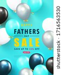 father s day sale template... | Shutterstock .eps vector #1716563530