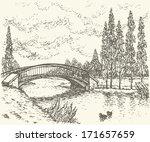 Vector Landscape. Sketch Of A...
