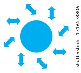 blue circle with arrows. vector ...   Shutterstock .eps vector #1716578806