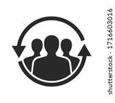 returning client icon vector... | Shutterstock .eps vector #1716603016