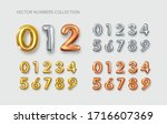 gold  silver  copper numbers.... | Shutterstock .eps vector #1716607369