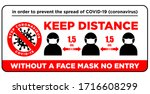warning sign without a face... | Shutterstock .eps vector #1716608299