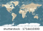 world map vintage political  ... | Shutterstock .eps vector #1716610300