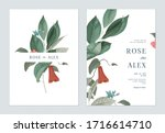 floral wedding invitation card... | Shutterstock .eps vector #1716614710