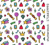 vector pattern from colored... | Shutterstock .eps vector #1716619993