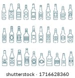 set of colored icons of... | Shutterstock .eps vector #1716628360