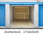 storage  empty storage unit... | Shutterstock . vector #171663620