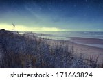night at sea. elements of this... | Shutterstock . vector #171663824