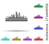 qatar detailed skyline multi...
