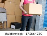 storage  anonymous woman... | Shutterstock . vector #171664280