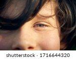 boy's gaze  expectation  smile  ... | Shutterstock . vector #1716644320