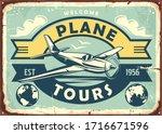 air transport vintage metal... | Shutterstock .eps vector #1716671596