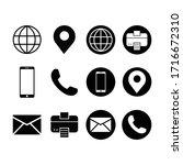 business card icon set modern ... | Shutterstock .eps vector #1716672310