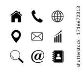 business card icon set modern ... | Shutterstock .eps vector #1716672313