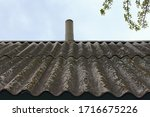 Old Wavy Slate Roof With...