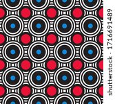 colorful red and blue geometric ...   Shutterstock .eps vector #1716691489