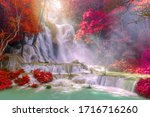 Waterfall In Rain Forest.  Tat...