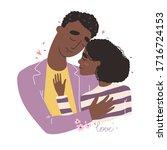 lovers black african american...   Shutterstock .eps vector #1716724153