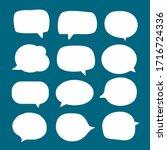 set of blank white speech... | Shutterstock .eps vector #1716724336