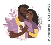 lovers black african american...   Shutterstock .eps vector #1716728419