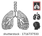 mesh lungs cancer polygonal web ... | Shutterstock .eps vector #1716737533