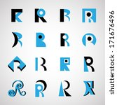unusual letters set   isolated... | Shutterstock .eps vector #171676496