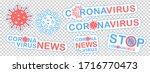 coronavirus icons  labels or... | Shutterstock .eps vector #1716770473