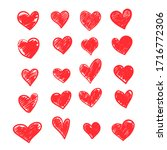 set of vector drawings of red... | Shutterstock .eps vector #1716772306